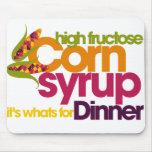 Jarabe de maíz de la alta fructosa tapete de ratones