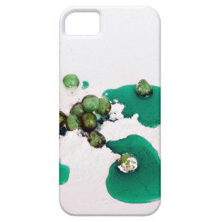Jarabe escarchado verde de las cerezas en el iPhone 5 cobertura