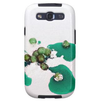 Jarabe escarchado verde de las cerezas en el samsung galaxy s3 carcasas