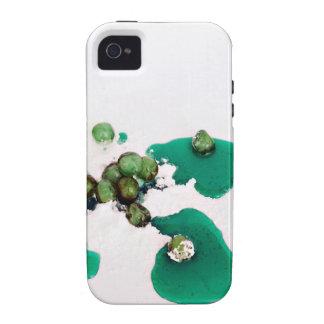 Jarabe escarchado verde de las cerezas en el iPhone 4/4S fundas