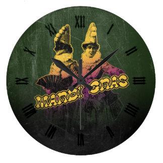 Jaraneros del carnaval reloj redondo grande