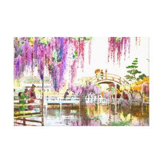 Jardín 1908 de las glicinias impresiones de lienzo