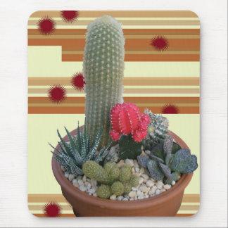 Jardín #2 del plato del cactus alfombrillas de ratones