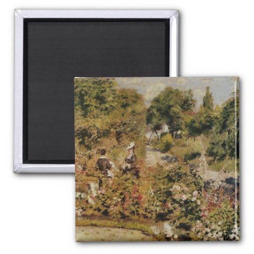 Jardin à Fontenay - Pierre-Auguste Renoir 2 Inch Square Magnet