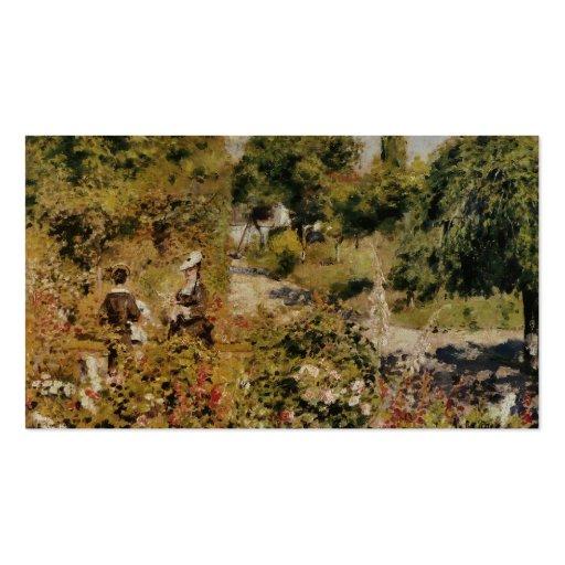 Jardin à Fontenay - Pierre-Auguste Renoir Business Card Template