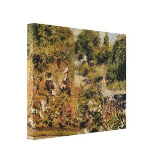 Jardin à Fontenay - Pierre-Auguste Renoir Gallery Wrapped Canvas