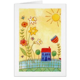 jardín a montones tarjeta de felicitación