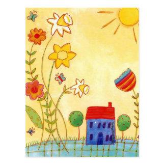 jardín a montones postales