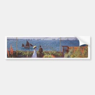 Jardin a Sainte-Adresse by Claude Monet Bumper Sticker