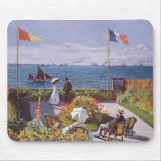 Jardin a Sainte-Adresse by Claude Monet Mouse Pad