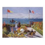 Jardin a Sainte-Adresse by Claude Monet Post Card