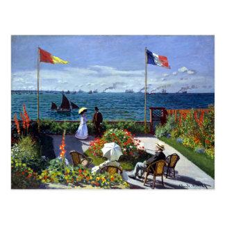 Jardin à Sainte-Adresse by Claude Monet Postcard