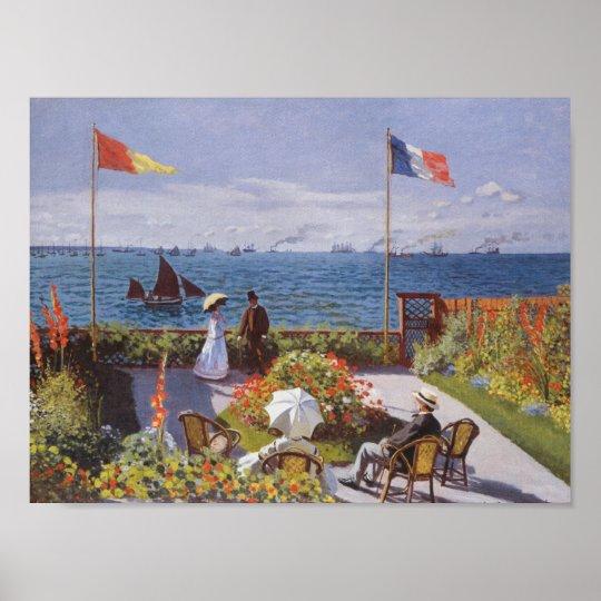 Jardin a Sainte-Adresse by Claude Monet Poster