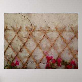 Jardín abstracto póster