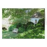 Jardín aislado tarjetón