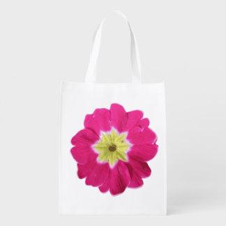jardín amarillo rosado brillante del diseño del bolsa de la compra