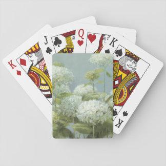 Jardín blanco del Hydrangea Cartas De Juego