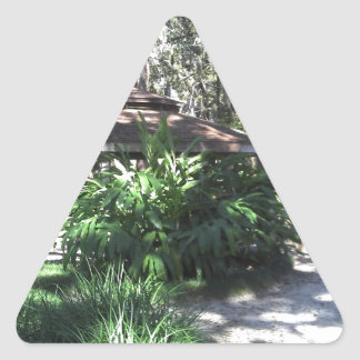 Jardín botánico de la Florida Pegatina Triangular