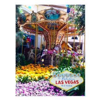 Jardín botánico de Las Vegas con el signo positivo Postales