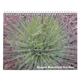 Jardín botánico del desierto calendario de pared