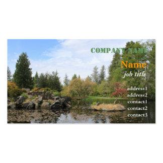 Jardín botánico del verano en Vancouver Plantilla De Tarjeta De Negocio