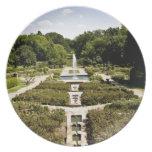 Jardín botánico plato de comida