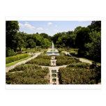 Jardín botánico tarjeta postal