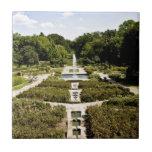 Jardín botánico teja cerámica