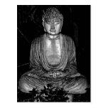 Jardín Buda - foto blanco y negro Tarjeta Postal