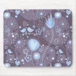 Jardín caprichoso en azul y gris tapete de ratones