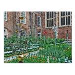 Jardín caprichoso tarjeta postal