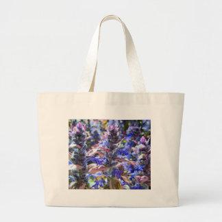 Jardín colorido bolsa tela grande