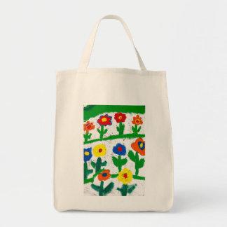 Jardín colorido bolsa tela para la compra