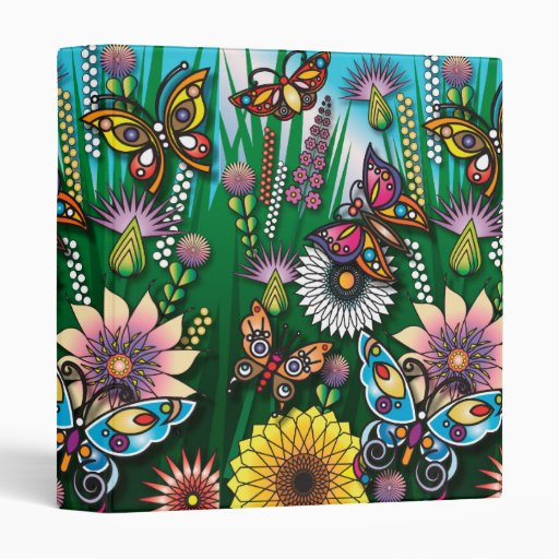 jardín colorido de la mariposa de la primavera