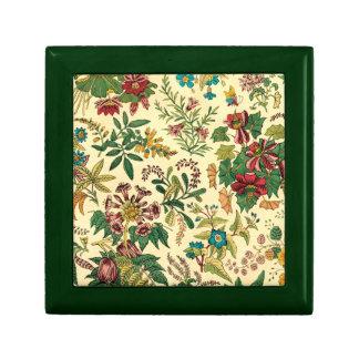 Jardín colorido del vintage floral caja de joyas