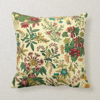 Jardín colorido del vintage floral almohada