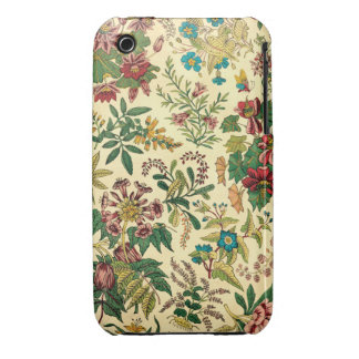Jardín colorido del vintage floral Case-Mate iPhone 3 cárcasa