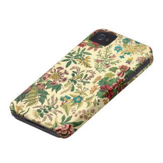 Jardín colorido del vintage floral iPhone 4 fundas