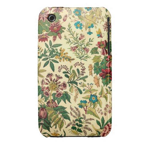 Jardín colorido del vintage floral funda bareyly there para iPhone 3 de Case-Mate