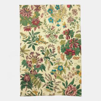 Jardín colorido del vintage floral toalla de mano