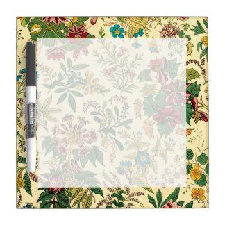 Jardín colorido del vintage floral tableros blancos
