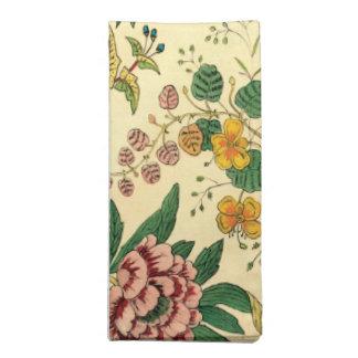 Jardín colorido del vintage floral servilletas imprimidas