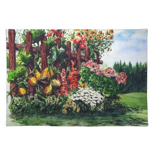 Jardín colorido mantel