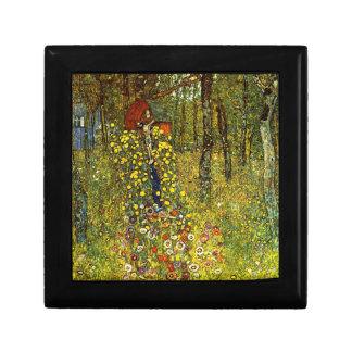 Jardín con crucifijo de Gustavo Klimt Caja De Regalo