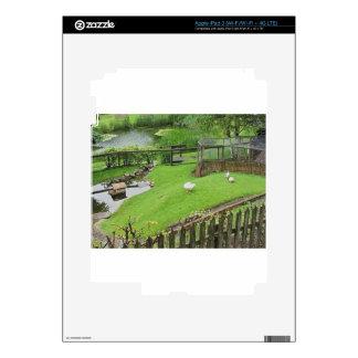Jardín con la charca pegatina skin para iPad 3