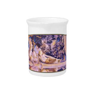 Jardín de Alá - jarra de la porcelana