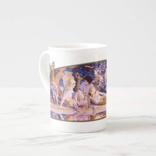 Jardín de Alá - taza de la porcelana de hueso Tazas De China