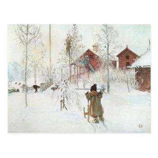 Jardín de Carl Larsson y la casa del lavado Postal
