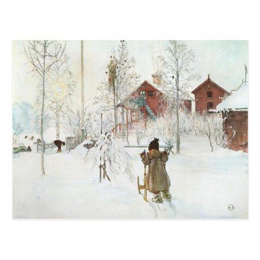 Jardín de Carl Larsson y la casa del lavado Tarjetas Postales