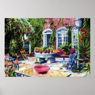 Jardín de Charleston Carolina del Sur de la casa d Póster